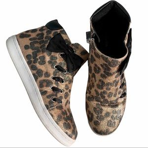 Kenneth Cole Reaction Leopard High-Top Sneaker 7.5